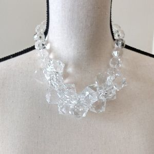 Chunky acrylic clear Boutique Necklace